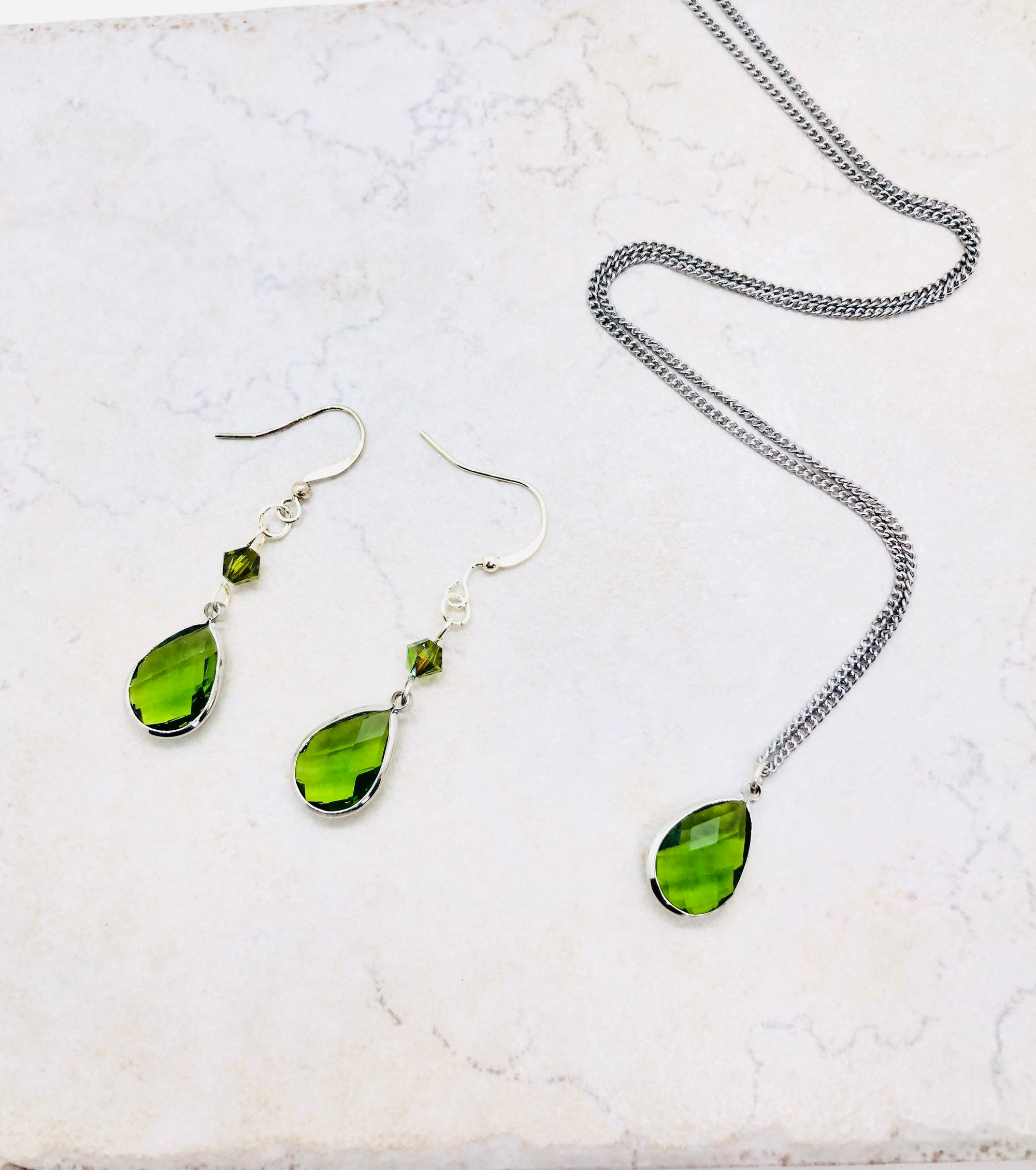 August jewelry, quarantine birthday gift for her sweet 16 gift for granddaughter, August birthstone necklace for mom peridot earrings dangle