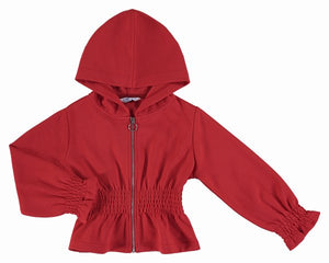 girls red zipper