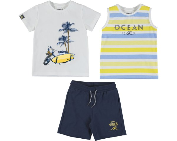 boys 3 piece short set