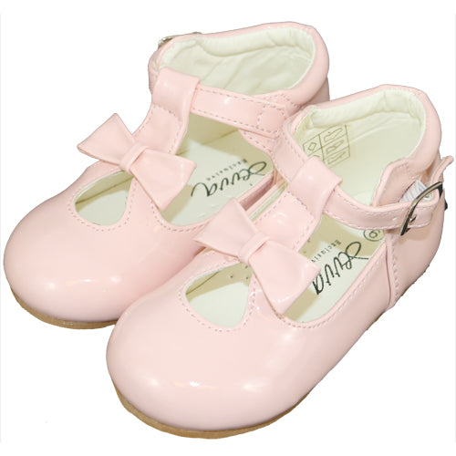 21201 Baby Pink Bow Patent Shoes