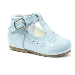 Blue Patent t bar shoes