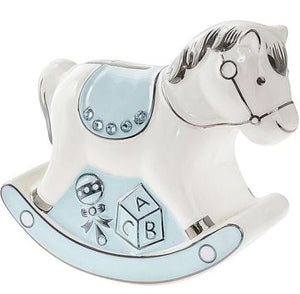 Rocking Horse Baby Bank pink or blue
