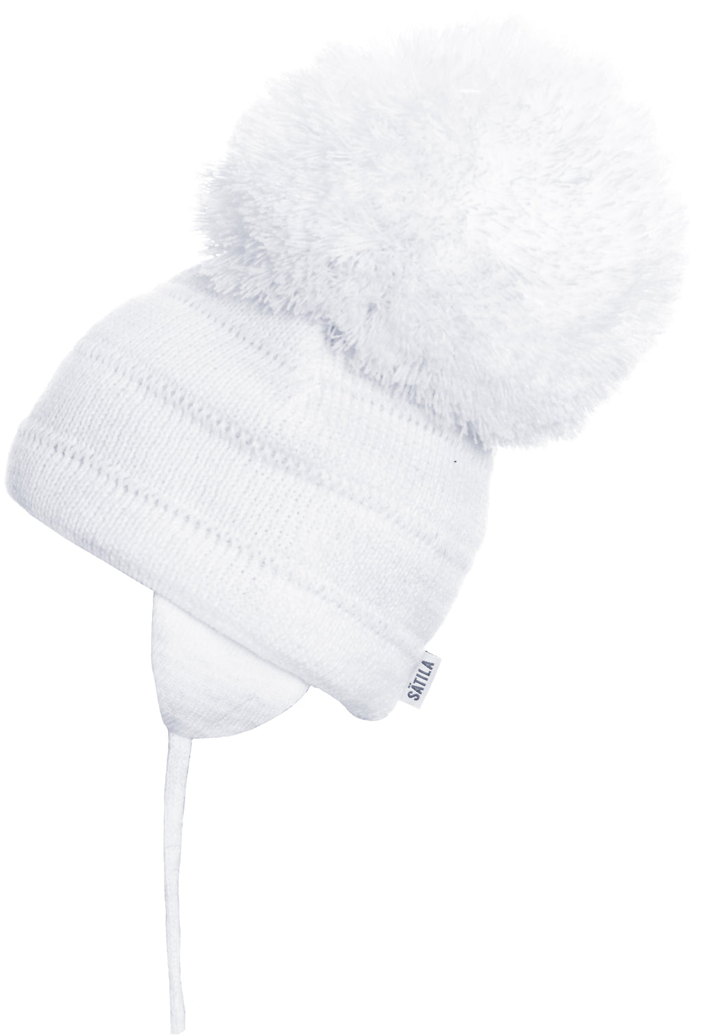 large white pom hat