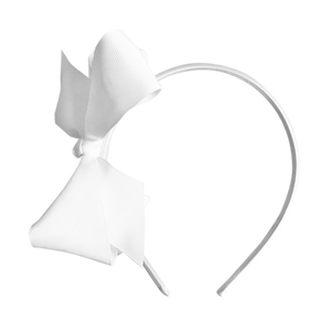white bow hairband