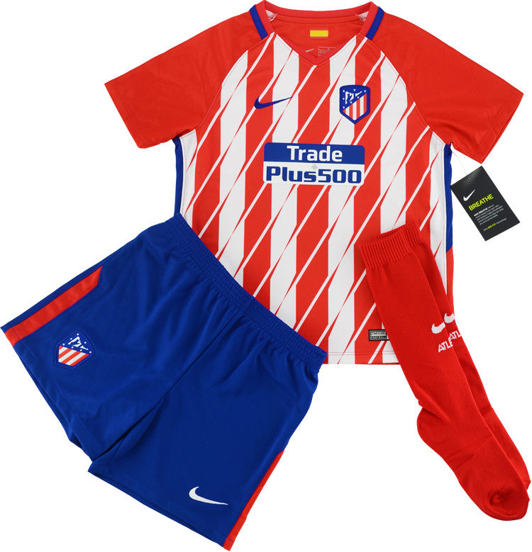 2017-18 Atletico Madrid Home Full Kit *BNIB* Kids