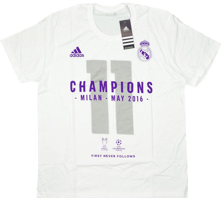 2016 Real Madrid Adidas Champions League Winners Tee *BNIB*