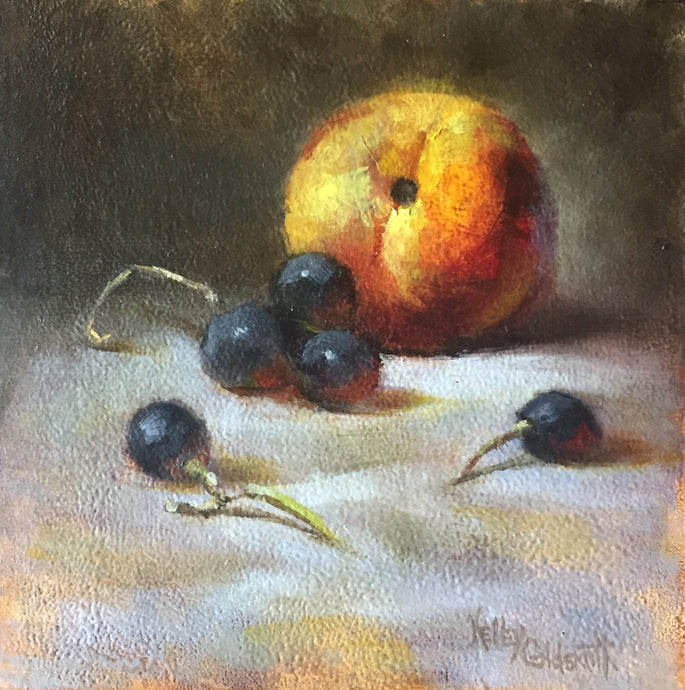 Peaches and Grapes by Kelley Goldsmith