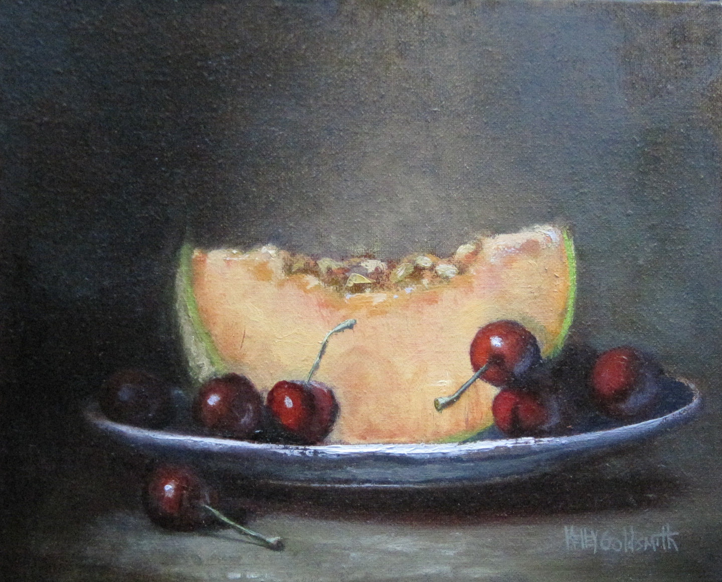 Cherries and Cantaloupe by Kelley Goldsmith