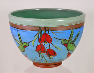 Hummingbird Bowl by Jennifer Stas