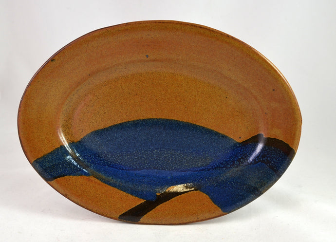 Oval plates, multicolored by Roy Brown