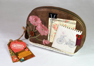 """Scrapbook Vintage Stationary"" Cosmetic Bag, by Vendula of London"