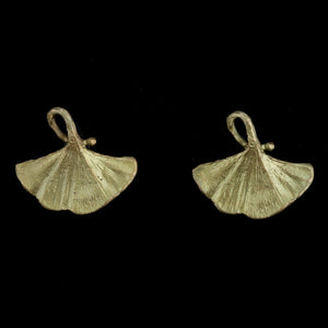 Gingko Tailored Post Earrings by Michael Michaud
