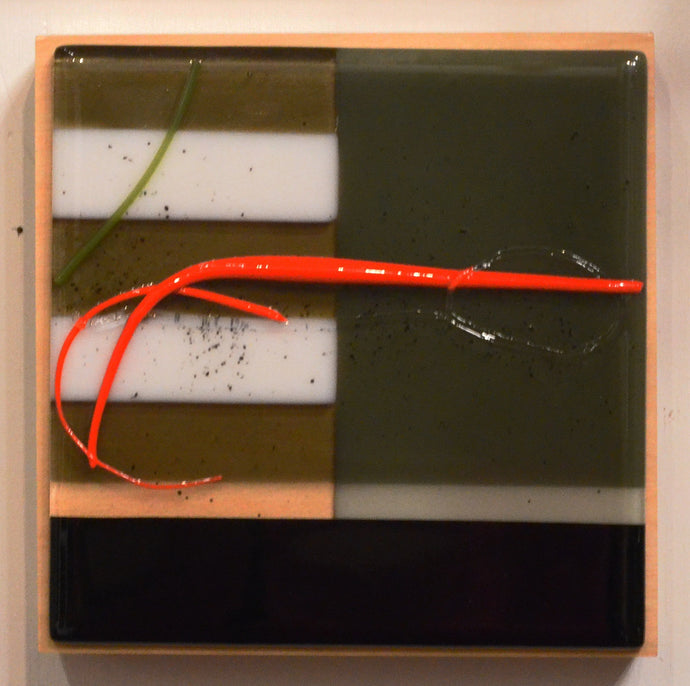 Zen Box (Shiny with orange line) by Leslie Friedman