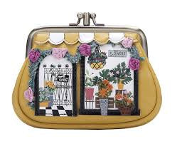 Flower Shop Clipper Coin Purse by Vendula of London