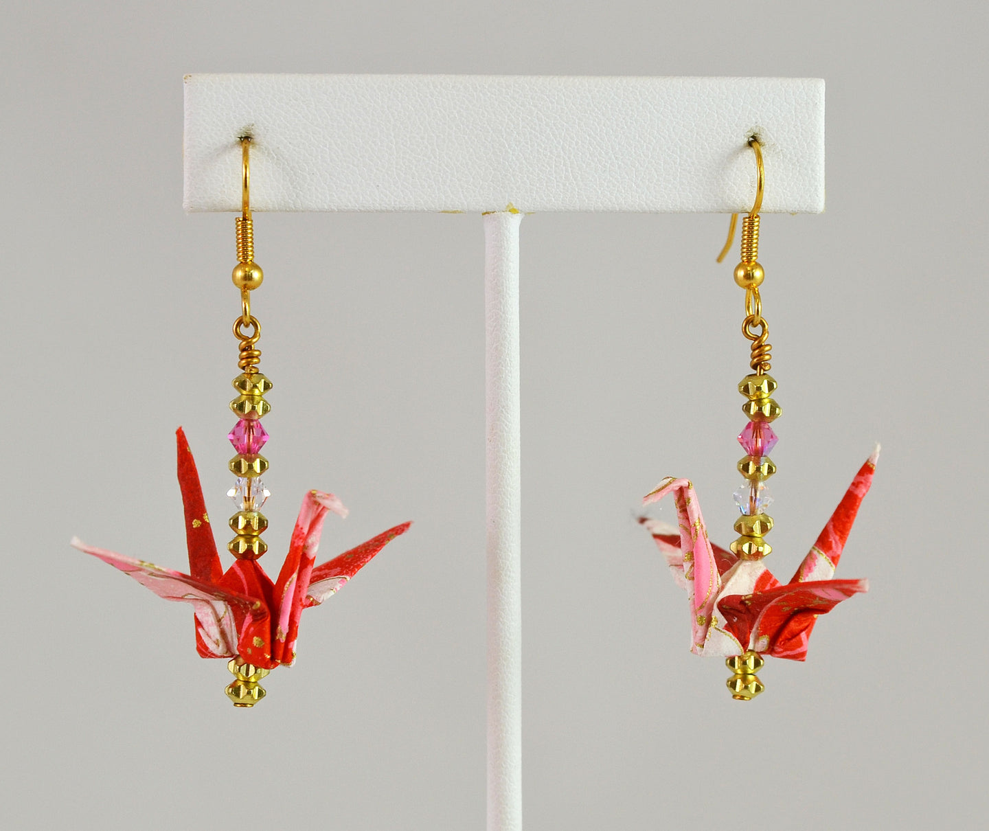 Origami Crane Earrings (#104) by Vicki Bolen