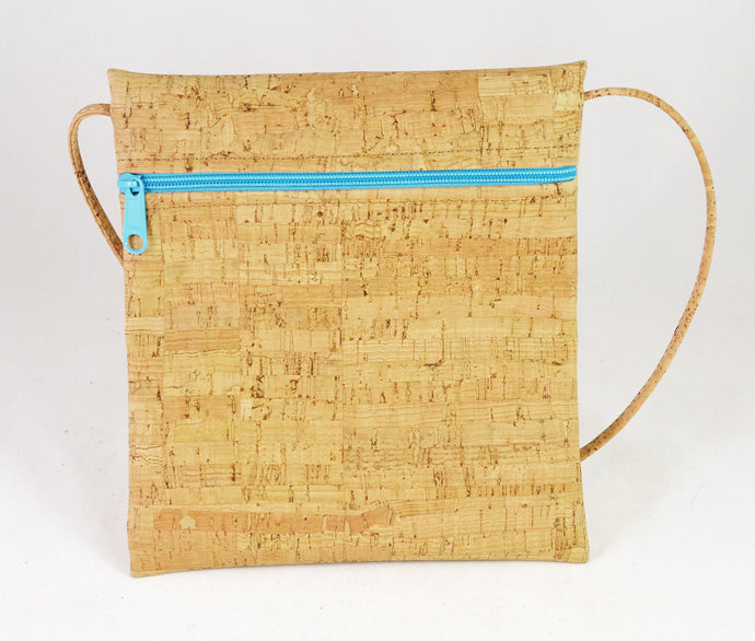Be Lively Small Cross Body Bag (rustic with aqua) by Natalie Therese