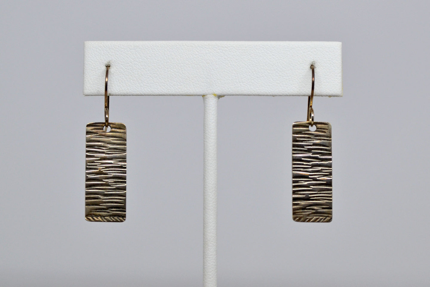 Earrings- rectangles with lines