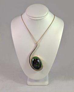 Zoisite and Sterling Silver Necklace by Christina Chomel