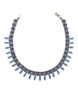 Blue Daggers, Necklace by Adriana Walker