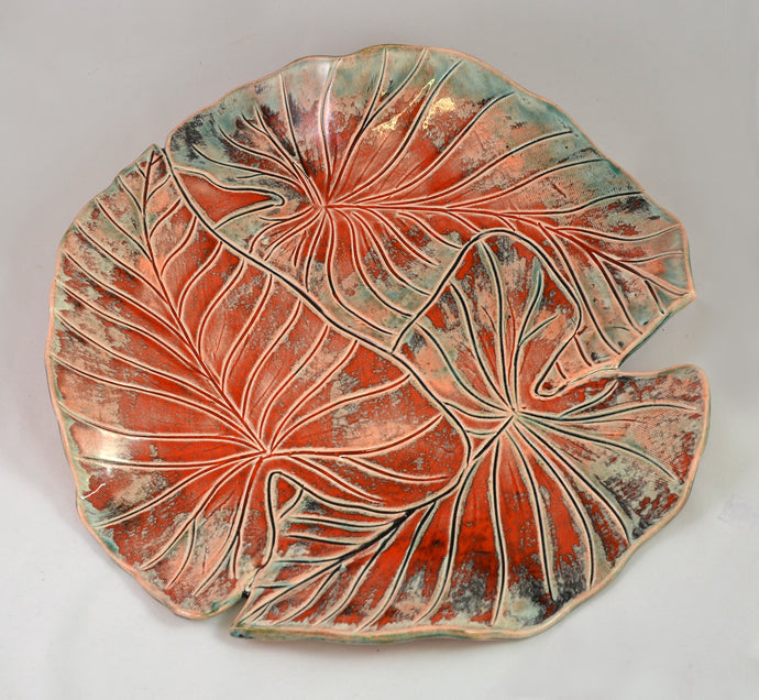 Three Banana Leaf Platter by Richard Eastman