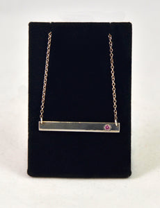 Necklace with pink stones and silver by Christina Chomel