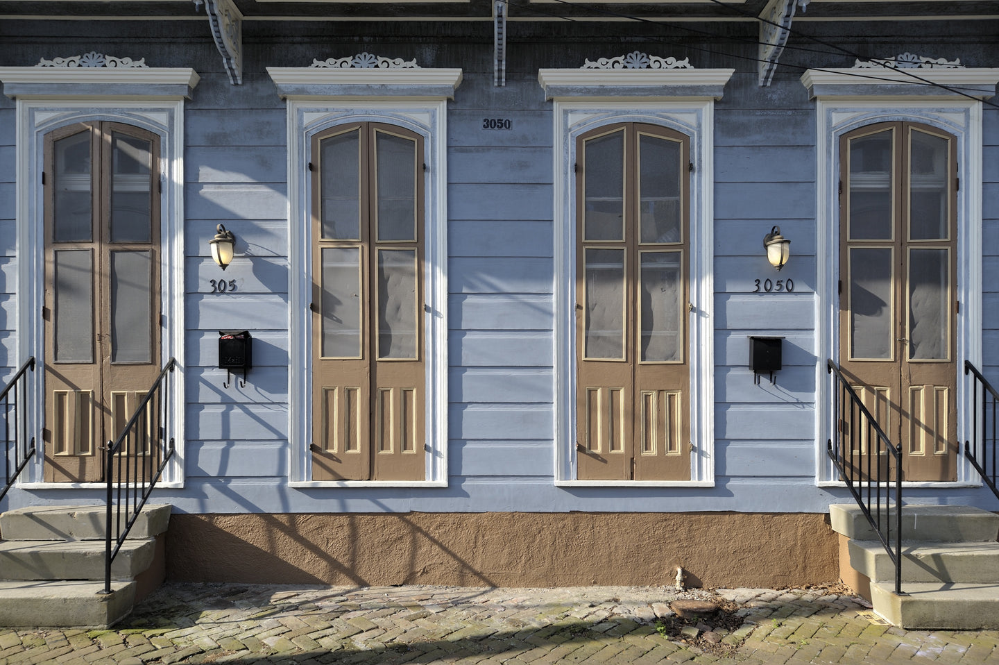 Bywater, New Orleans, SJS194089 (peach shutters) by Stan Strembicki