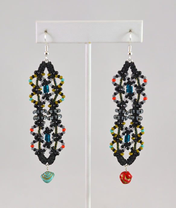 Earrings (Asymmetric Beads) by Renate Kasper