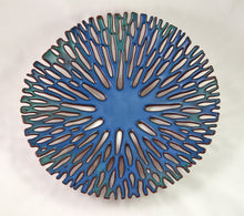 Load image into Gallery viewer, Medium Shallow Bowl (Dark Blue) by Glenda Kronke