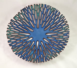 Medium Shallow Bowl (Dark Blue) by Glenda Kronke