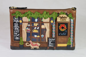 """Winter Cafe"" Pouch Bag, by Vendula of London"