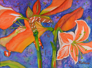 Coral Lilies by Kathy Callaway