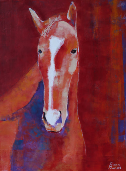 Portrait of a Red Horse by Dara Daniel