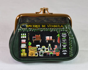"""Epicerie De Vendula"" Clipper Coin Purse, by Vendula of London"