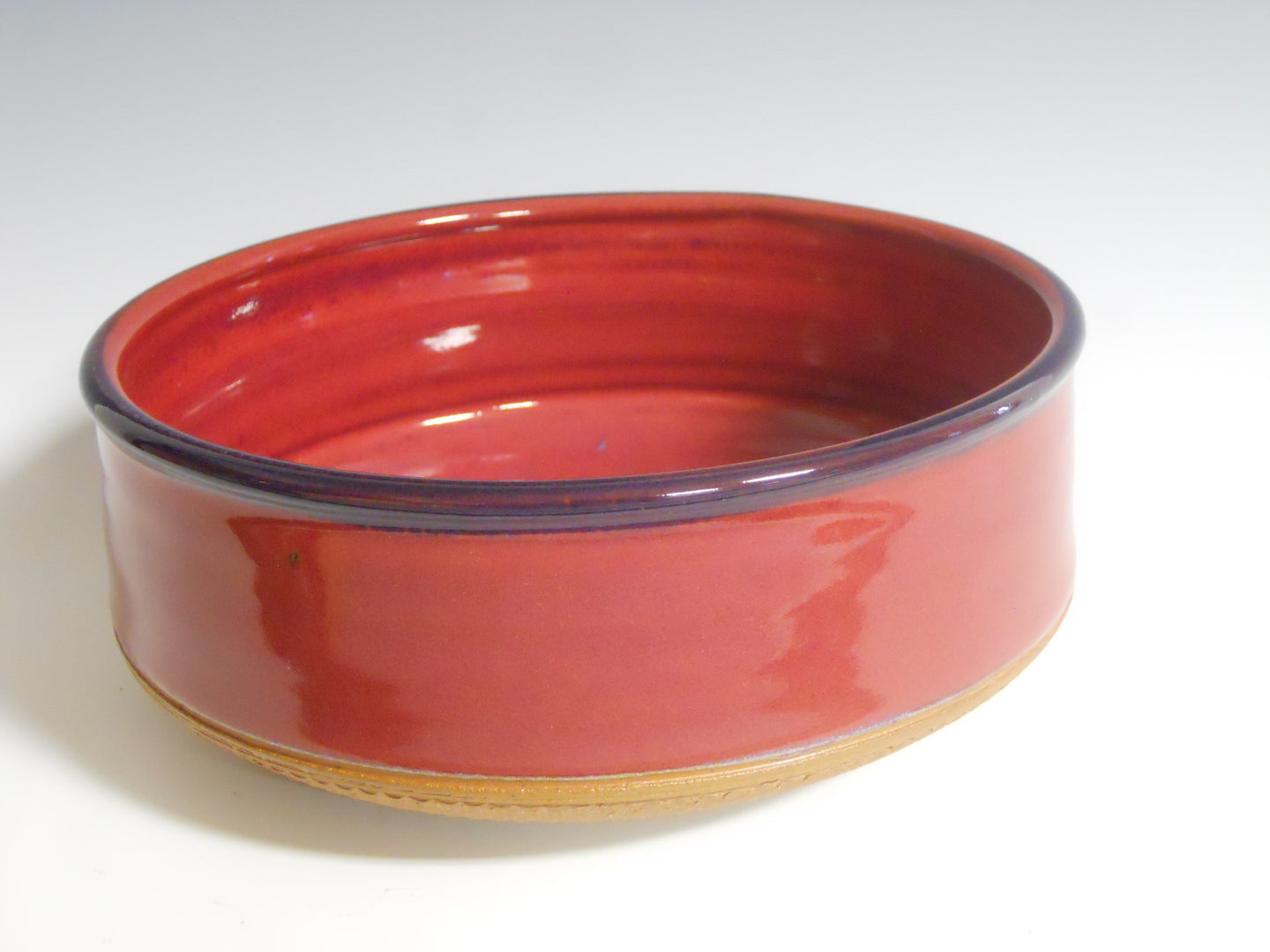 Large red serving bowl (sm) by Roy Brown