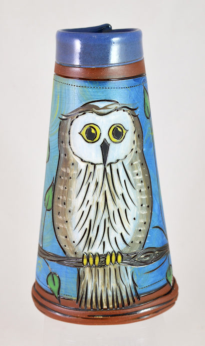 Owl Vase by Jennifer Stas Pottery