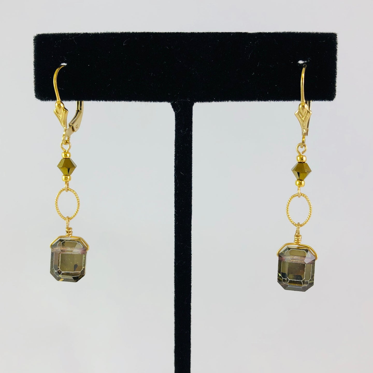 Earrings, EG-EC Medium Gold, by Cynthia Bloom