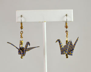 Origami Crane Earrings (#107) by Vicki Bolen