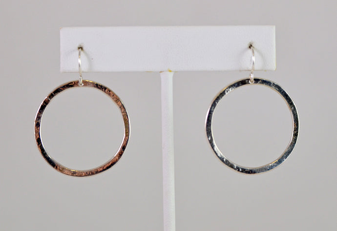 Silver Circle Earrings by Christina Chomel