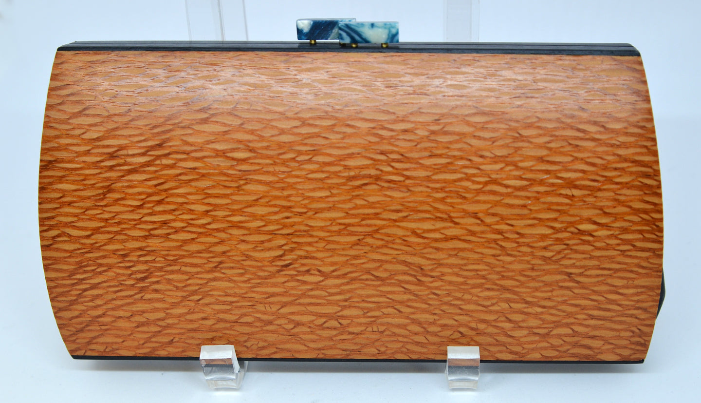 Handcrated Cassia Clutch-Lacewood byTreebourne Woodworking, Inc.