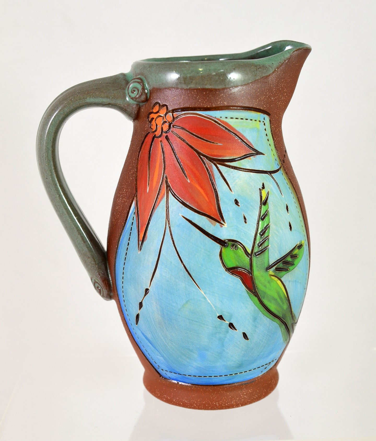 Hummingbird Pitcher by Jennifer Stas
