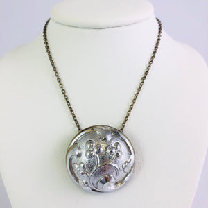 Button necklace by Cynthia Bloom