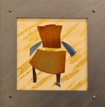 Load image into Gallery viewer, Chair mosaic, gold background by Roy Brown