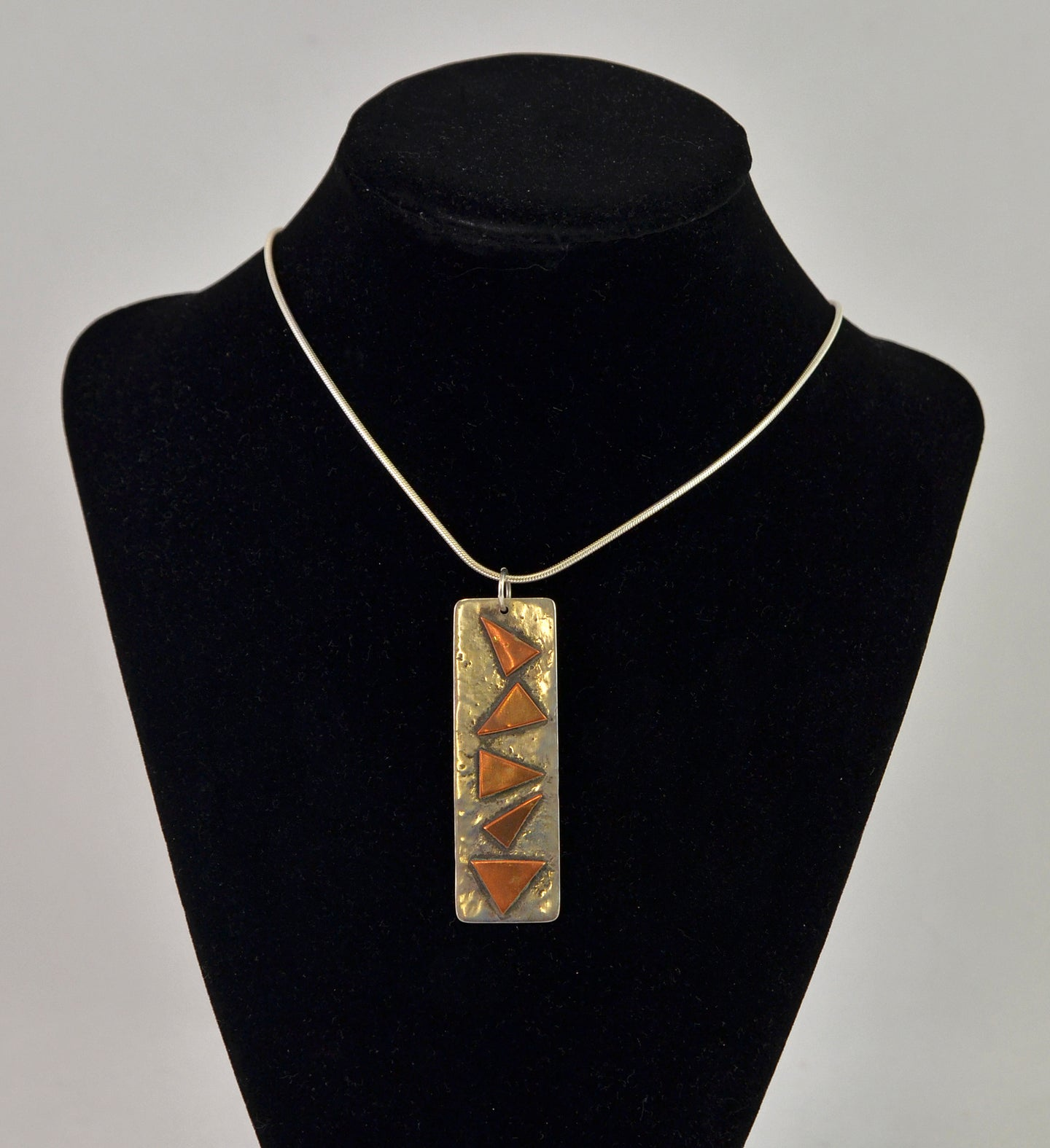 Silver and Copper Train Necklace by Christina Chomel
