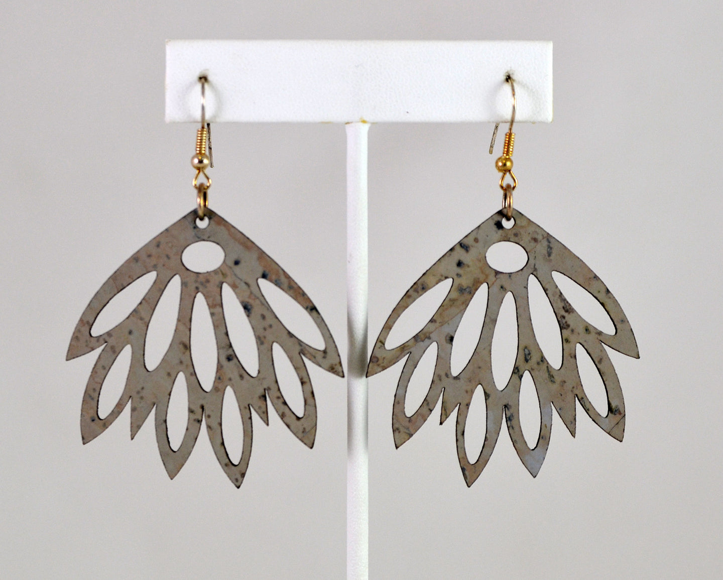 Bloom Earrings (light grey) by Elisabetta Studio