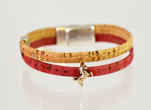 Classic Cork Bracelet with Unicorn (pink/extra small) by Elisabetta Studio