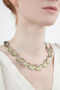 Gingko Tailored Contour Necklace  by Michael Michaud
