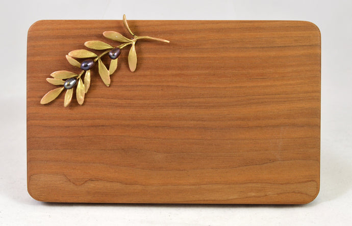 Cheese Board with olive motif by Michael Michaud