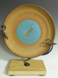 Stork platter with base by Roy Brown