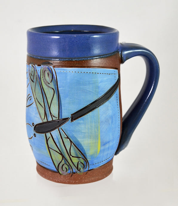 Dragonfly Mug by Jennifer Stas Pottery