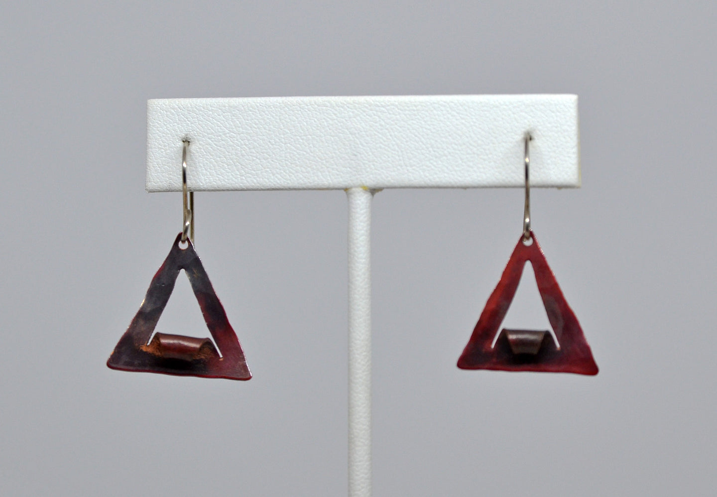 Earrings(14-020)-copper triangles